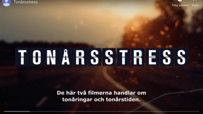 Stress under tonårstiden